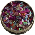 "Пайетки ""28 Lilac Lane Tin - Mixed Berry"" от Buttons Galore"