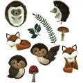 Набор деревянных фигурок Over the hedge - Craft Consortium Laser-Cut Wooden Shapes 10/Pkg