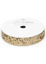 "Лента ""Solid Large Glitter Ribbon-Gold"" от American Crafts"