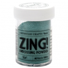 Пудра для эмбоссинга Zing! Metallic Teal от American Crafts