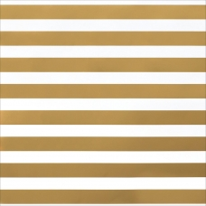 "Кардсток ""DIY Shop 2 Specialty Cardstock - Thick Gold Foil Stripe On White"" от American Crafts"