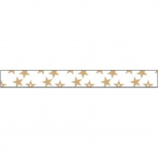 "Лента ""Glitter Ribbon-Gold Stars"" от American Crafts"