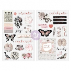 "Чипборд с фольгированием - Prima Marketing Amelia Rose Chipboard Stickers 5""X8"" 2/Pkg"