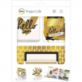 "Набор карточек и украшений ""Be Fearless Gold Foil Treatments"" для Project Life"