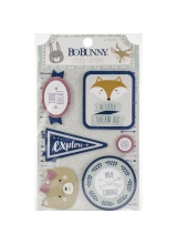 "Набор чипборда ""Little Wonders Adhesive Layered Chipboard"" от BoBunny"