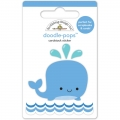"""3d стикер """"Doodle-Pops 3D Stickers-Wally Whale"""" от Doodlebug"""