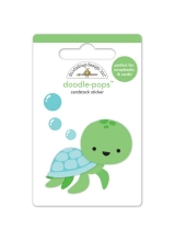 "3d стикер ""Doodle-Pops 3D Stickers-Tiny Turtle"" от Doodlebug"
