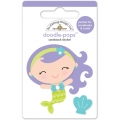 "3d стикер ""Doodle-Pops 3D Stickers-Mini Mermaid"" от Doodlebug"