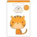 "3d стикер ""Doodle-Pops 3D Stickers-At The Zoo Tommy Tiger"" от Doodlebug"