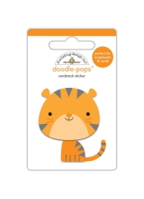 """3d стикер """"Doodle-Pops 3D Stickers-At The Zoo Tommy Tiger"""" от Doodlebug"""
