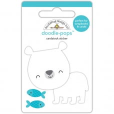 "3d стикер ""Doodle-Pops 3D Stickers-At The Zoo Patrick Polar Bear"" от Doodlebug"