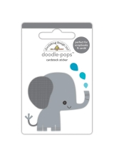 """3d стикер """"Doodle-Pops 3D Stickers-At The Zoo Eddie Elephant"""" от Doodlebug"""