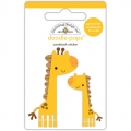 "3d стикер ""Doodle-Pops 3D Stickers-At The Zoo Jenny & Jojo Giraffe"" от Doodlebug"