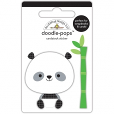 "3d стикер ""Doodle-Pops 3D Stickers-At The Zoo Polly Panda"" от Doodlebug"