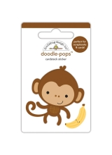 "3d стикер ""Doodle-Pops 3D Stickers-At The Zoo Monkey Mike"" от Doodlebug"