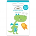 "3d стикер ""Doodle-Pops 3D Stickers-Dragon Tails Puff"" от Doodlebug"