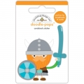 "3d стикер ""Doodle-Pops 3D Stickers-Dragon Tails Wee Warrior"" от Doodlebug"