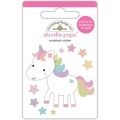 "3d стикер ""Doodle-Pops 3D Stickers-Fairy Tales Unicorn"" от Doodlebug"