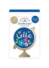 "3d стикер ""Doodle-Pops 3D Stickers - Hello World"" от Doodlebug"