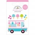 "3d стикер ""Doodle-Pops 3D Stickers - Ice Cream Truck"" от Doodlebug"