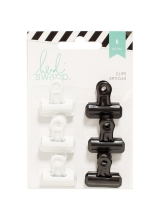 "Набор зажимов Bulldog Clips ""Black/White"" от Heidi Swapp"