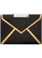 "Набор конвертов ""A7 Envelopes - Black W/Gold Foil Edge"" от Heidi Swapp"