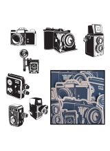 "Набор высечек Kraft Die-Cuts ""Say Cheese Cameras - Black"" от Maya Road"