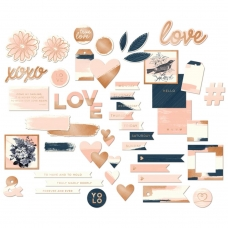 "Набор высечек ""Blush Mixed Bag Cardstock Die-Cuts"" от MME"