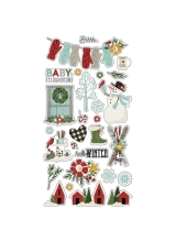 "Чипборд Winter Farmhouse Chipboard Stickers 6""X12"""