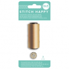 "Катушка ниток со шпулькой ""Stitch Happy Metallic Thread-Gold"" от We R Memory Keepers"